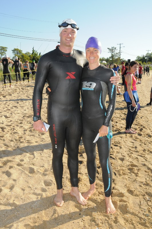 Jeff and I before the swim start