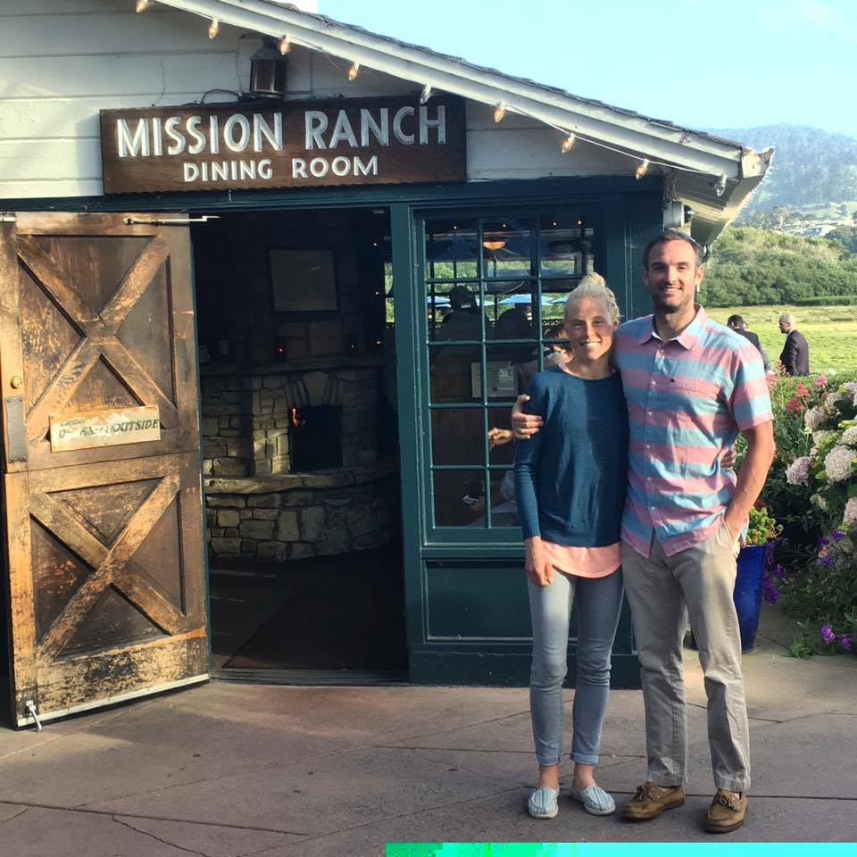 After dinner at Mission Ranch Inn! (no phones were allowed in the restaurant! :)