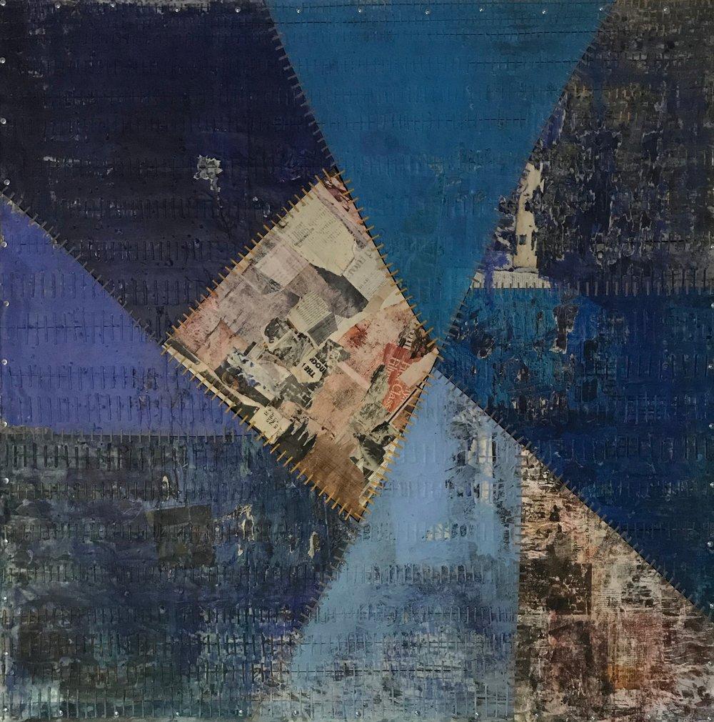 Sutured Blue Composition