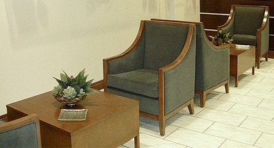 Milano End Table Wood Top and Wood Base with Yorkton Lounge Chair.jpg