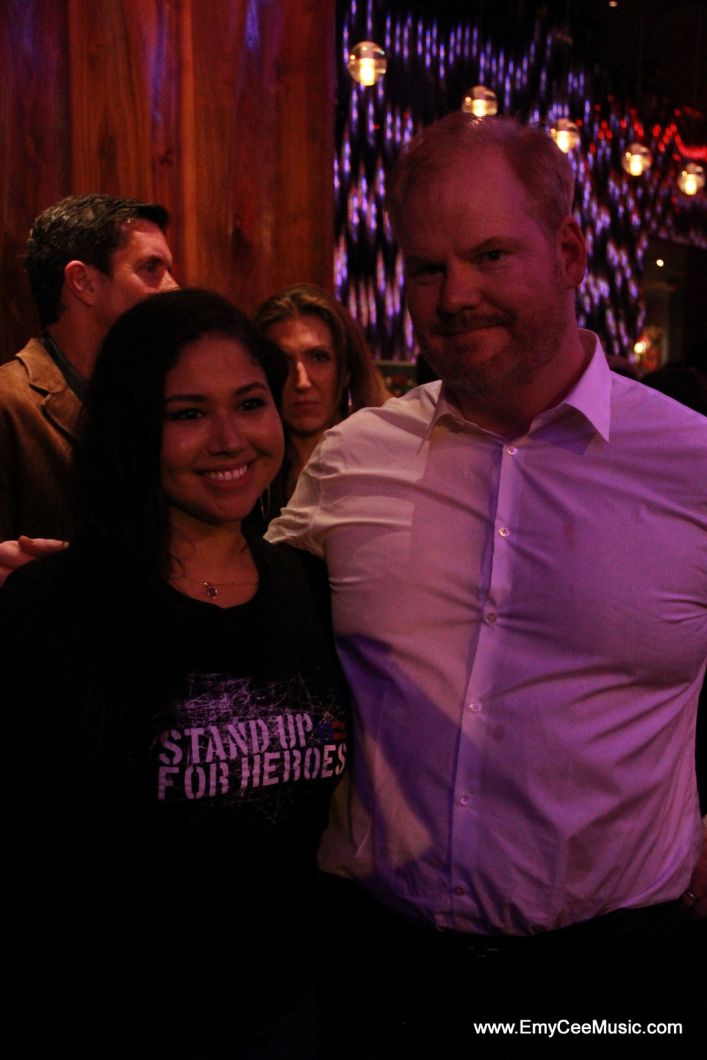 Emy Cee with Jim Gaffigan
