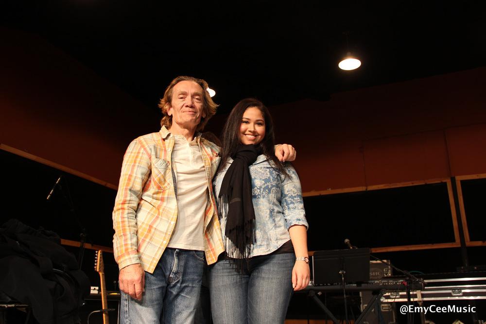 Emy Cee with GE Smith