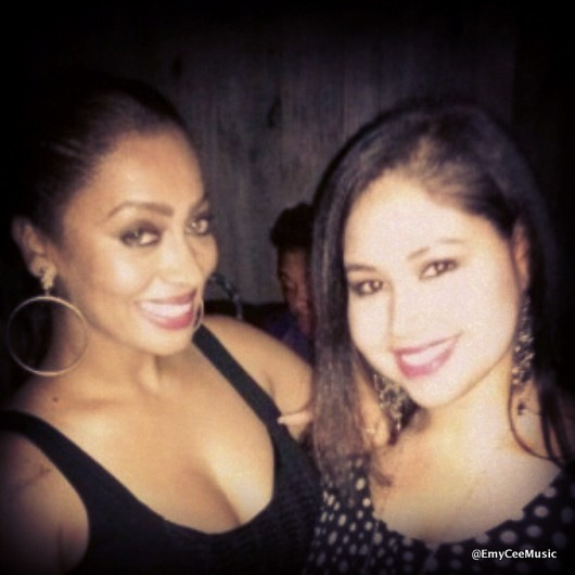 Emy Cee with Lala Anthony