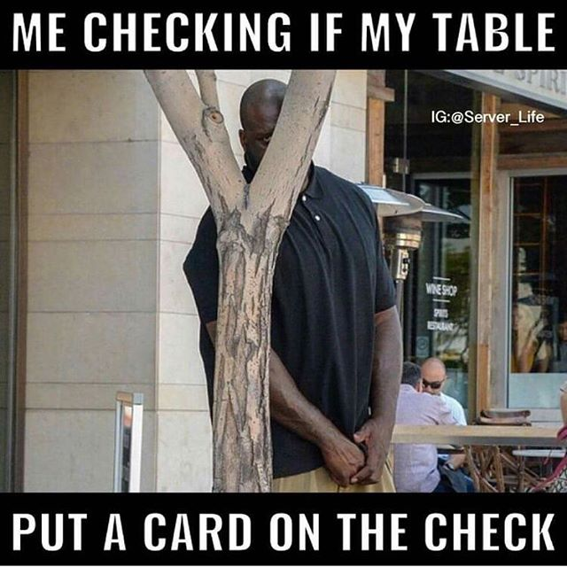 """Can you walk by 61 and see if their #money is out?"" 😂#waitcrimes #serverlife #serverprobs #serversbelike #serverlifeproblems #server #servers #serverproblems #justiceserved #yourserverhatesyou #boh #foh #restaurantlife #t #workflow #lmfao #lmao #hostess #waitress #restauranthumor #lifeasaserver #lineup #runner #preshift"