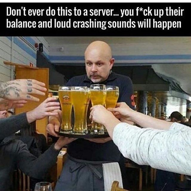 Who's been there? #yourserverhatesyou  #Waitcrimes #serverlife #serverprobs #serversbelike #serverlifeproblems #server #servers #serverproblems #justiceserved #boh #foh #restaurantlife #t #workflow #lmfao #lmao #hostess #waitress #restauranthumor #lifeasaserver #lineup #runner #preshift