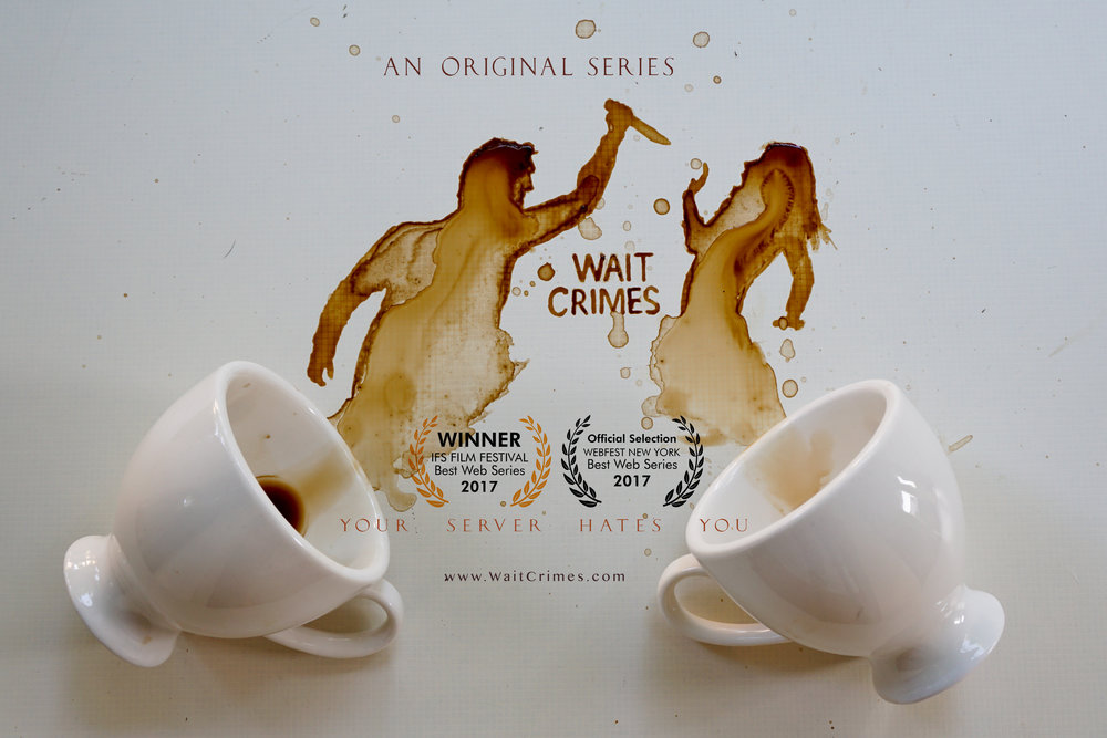 Wait Crimes is the #WINNER for BEST WEB SERIES at IFS FILM FESTIVAL! We are also an Official Selection at WEBFEST NEW YORK! We couldn't be happier--it's like when there's dead food in the window and we're the first ones there...
