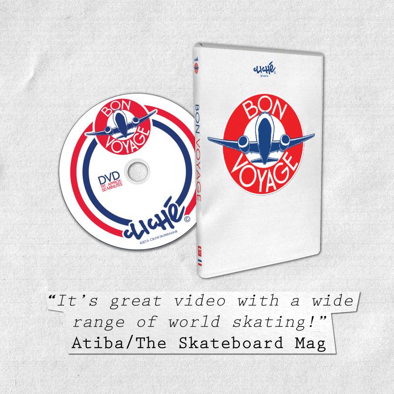 Atiba / The Skateboard Mag cliché skateboards bon voyage review