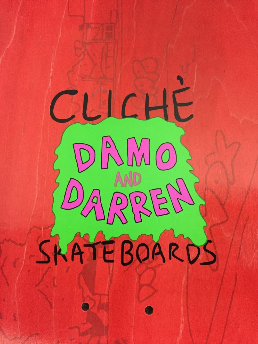 Cliché Skateboards x Damo & Darren Collab 2