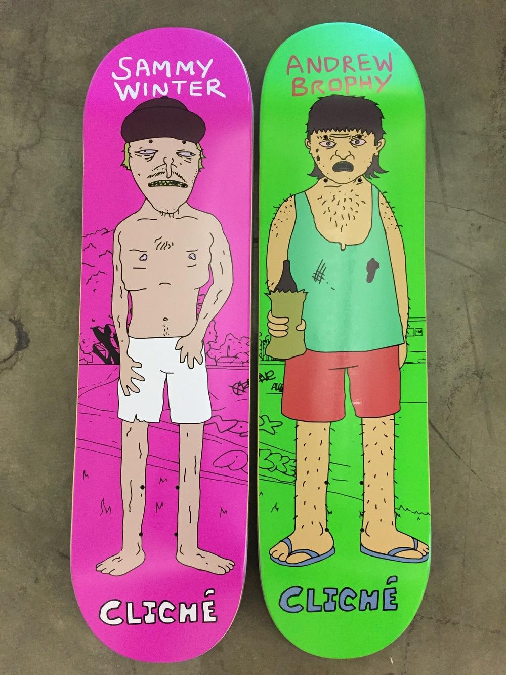Cliché Skateboards x Damo & Darren Collab