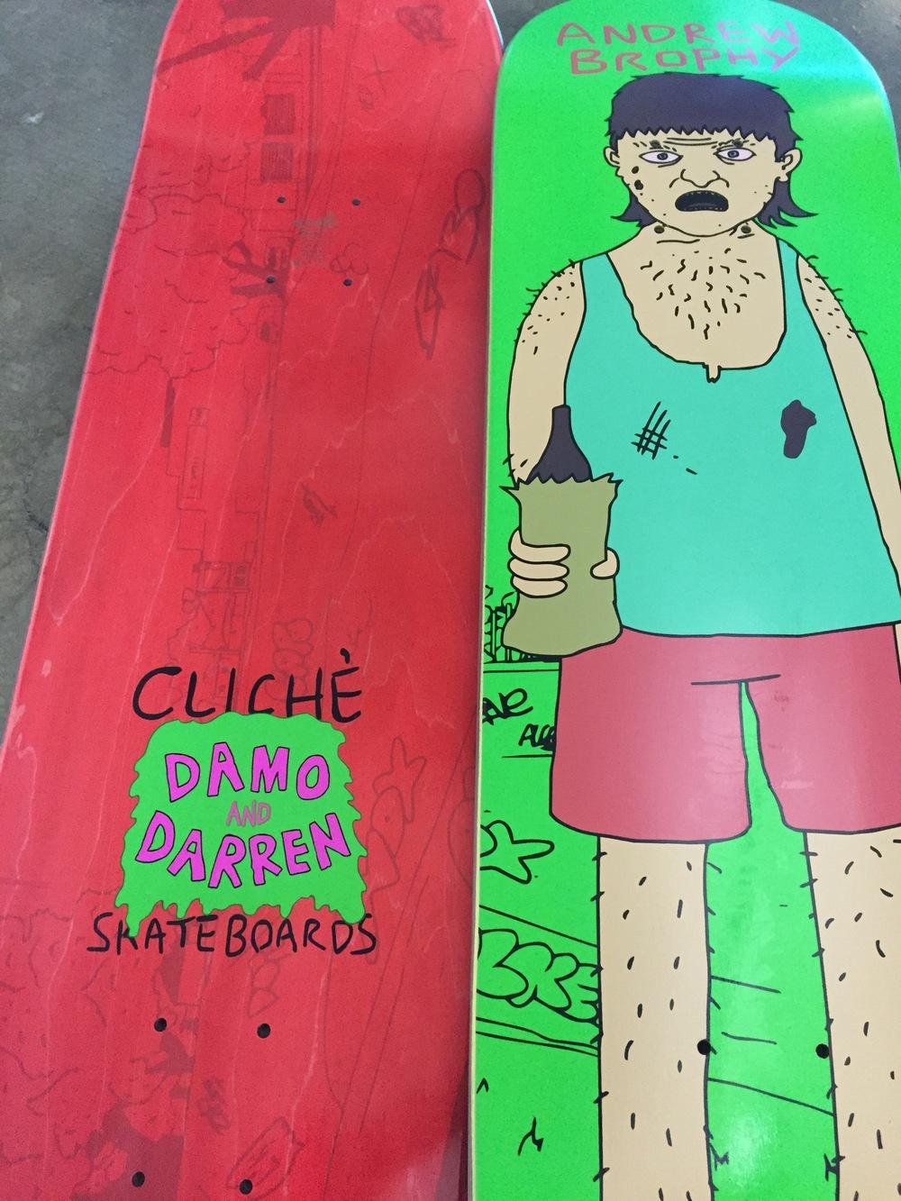 Cliché Skateboards x Damo & Darren Collab 4
