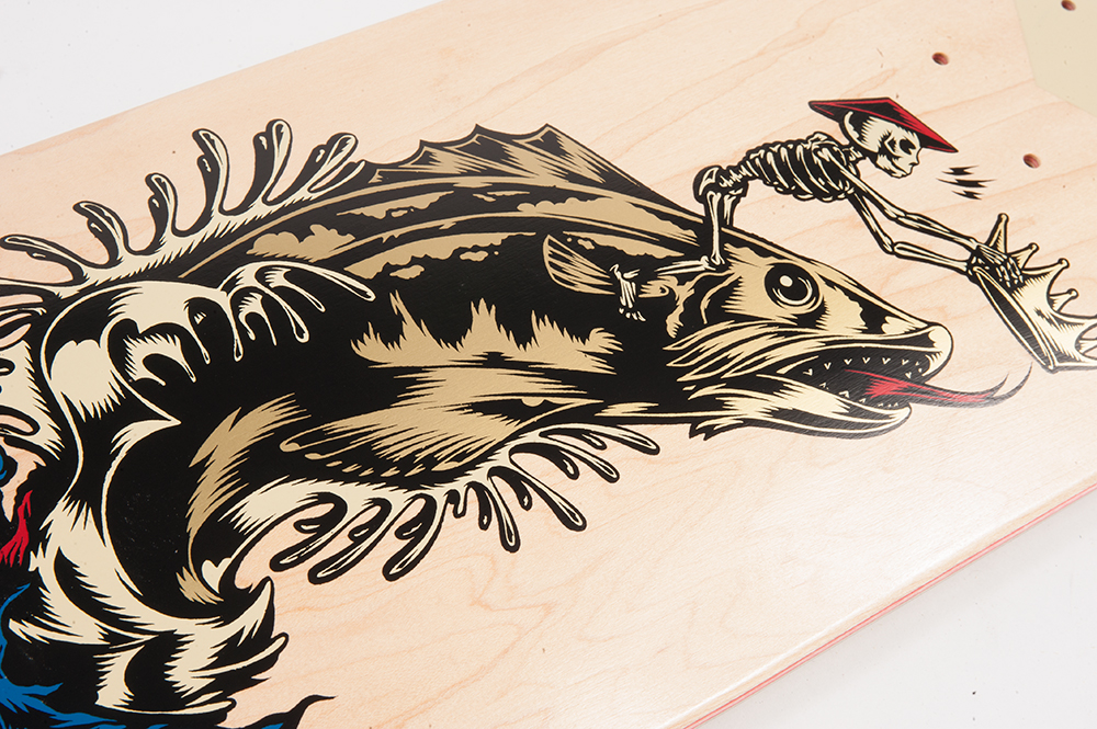 Cliche Skateboards x Swanski - Greedy Reaper Series Lem Villemin
