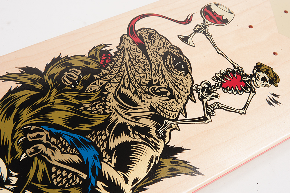 Cliche Skateboards x Swanski - Greedy Reaper Series Flo Mirtain