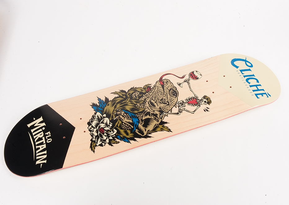 Cliche Skateboards x Swanski - Greedy Reaper Series Flo Mirtain 2