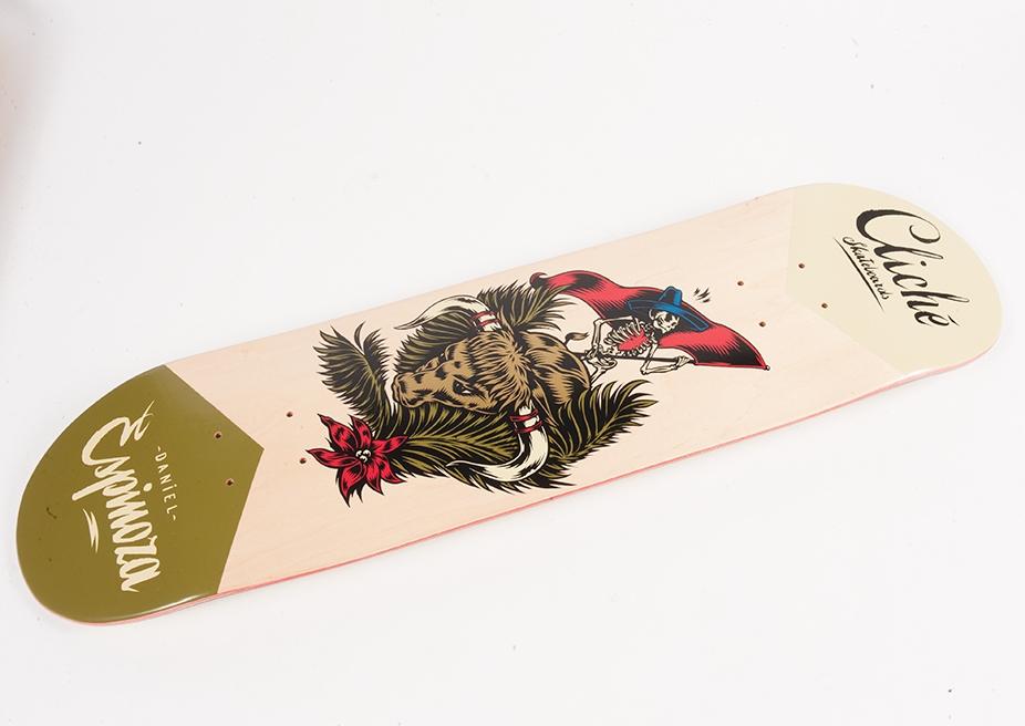 Cliche Skateboards x Swanski - Greedy Reaper Series Daniel Espinoza 2