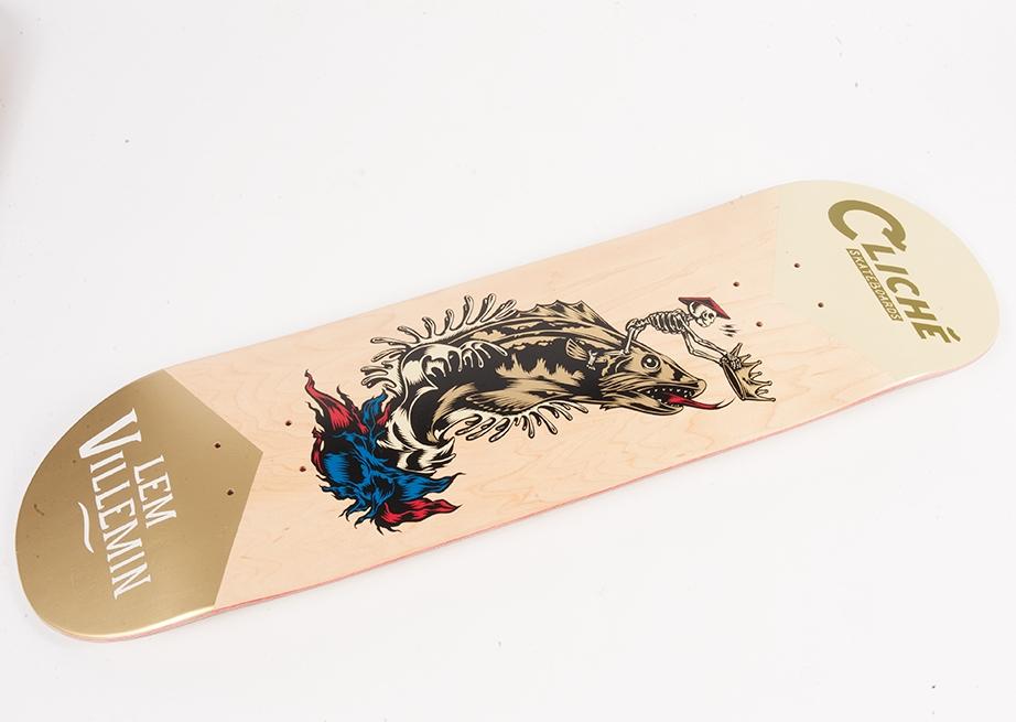 Cliche Skateboards x Swanski - Greedy Reaper Series Lem Villemin 2