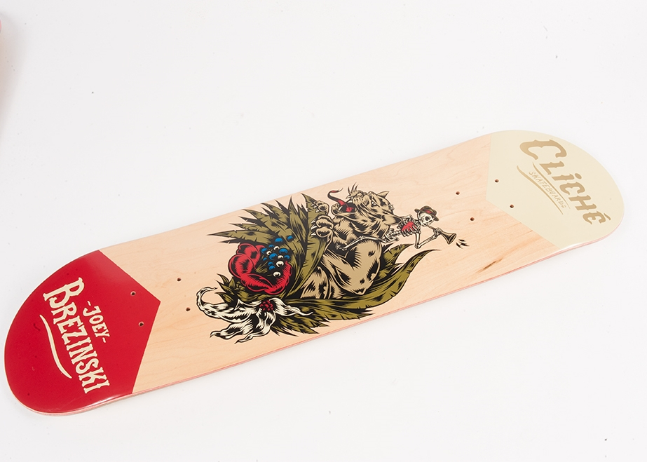 Cliche Skateboards x Swanski - Greedy Reaper Series Joey Brezinski 2