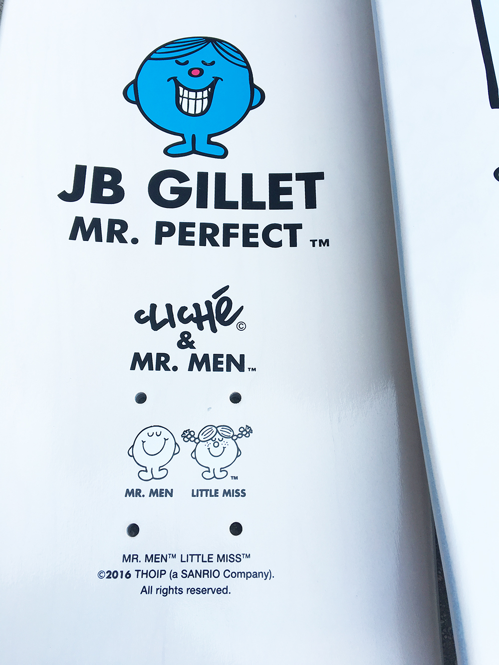 Cliché Skateboards x Mr. Men Paint Pen Seires Detail4