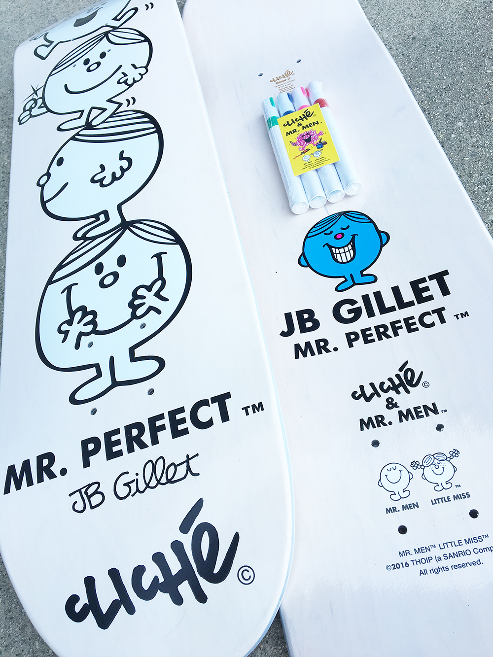 Cliché Skateboards x Mr. Men Paint Pen Seires Detail10