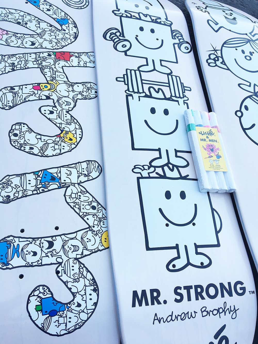 Cliché Skateboards x Mr. Men Paint Pen Seires Detail15