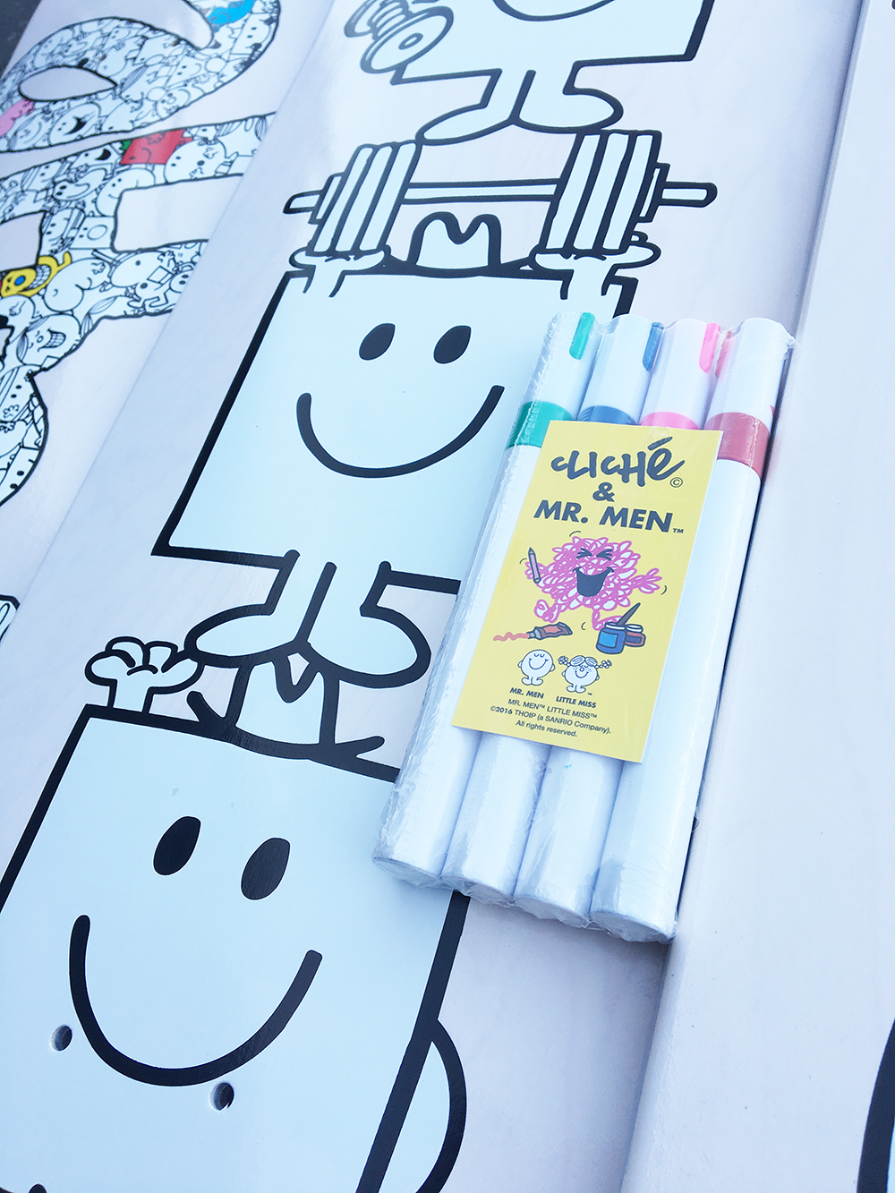 Cliché Skateboards x Mr. Men Paint Pen Seires Detail16