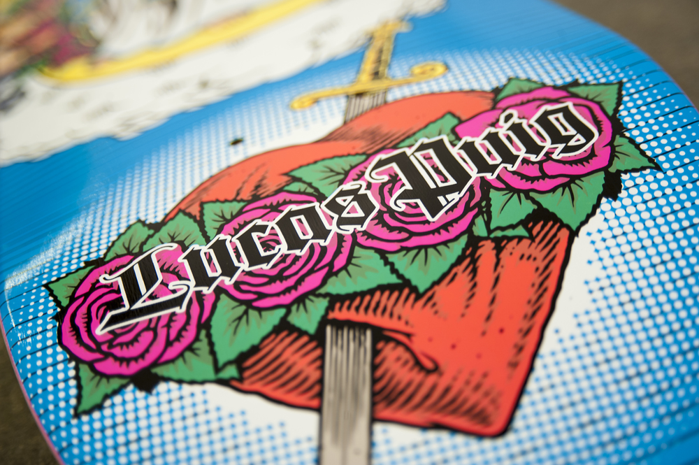 lucas puig virgin mary 101 tribute detail 1 cliche skateboards