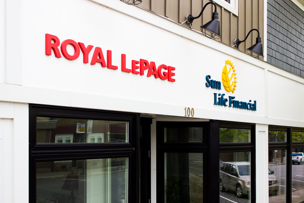The Royal LePage and Sun Life Financial offices with their new signs... fancy!