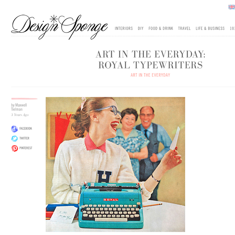 Art in the Everyday: Royal Typewriters