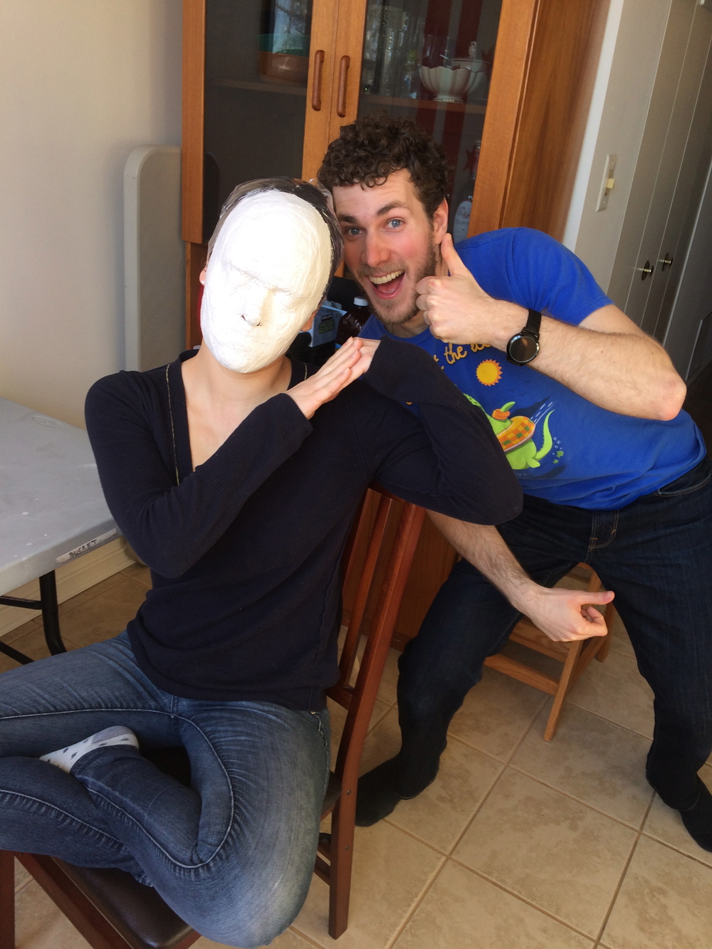 """Face casting for Faction of Fools' """"Our Town""""  Pictured with Tyler Herman"""