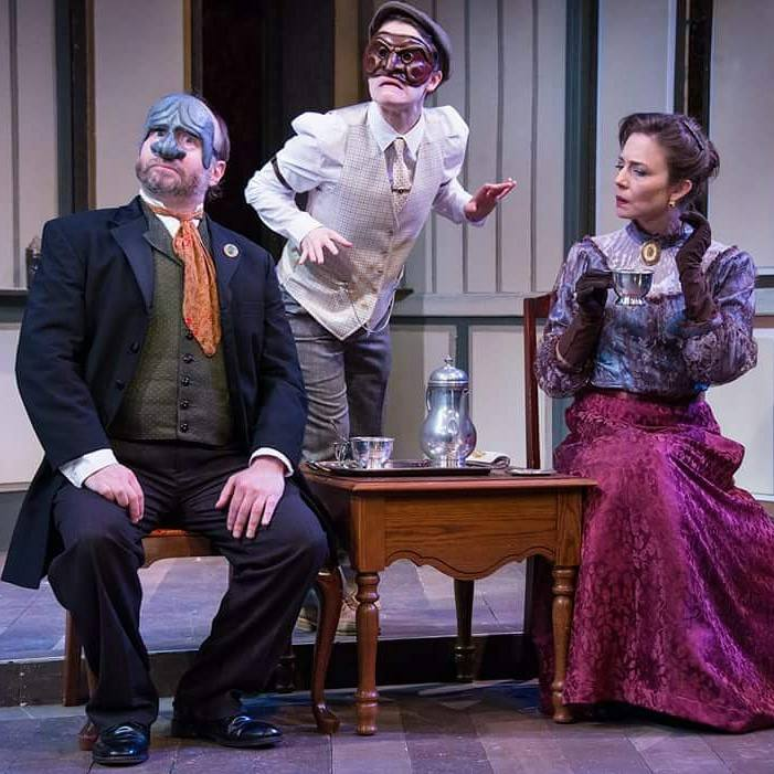 """Lopakhin in """"The Cherry Orchard"""" (pictured middle)"""