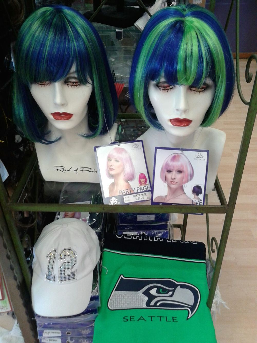 Stop by today and pick up a beautiful wig in Seahawks colors or other unique fan gear bling for the next big game!  sc 1 th 259 & Savvy Wigs
