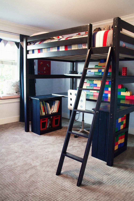 Kallum's lego themed room (Kia Porter Photography)