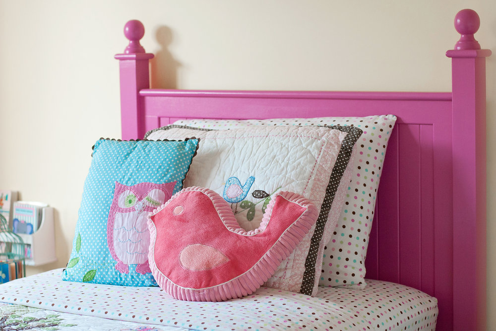 "Stella's ""Little Nest"" aka her first big girl bed! (Kia Porter Photography)"