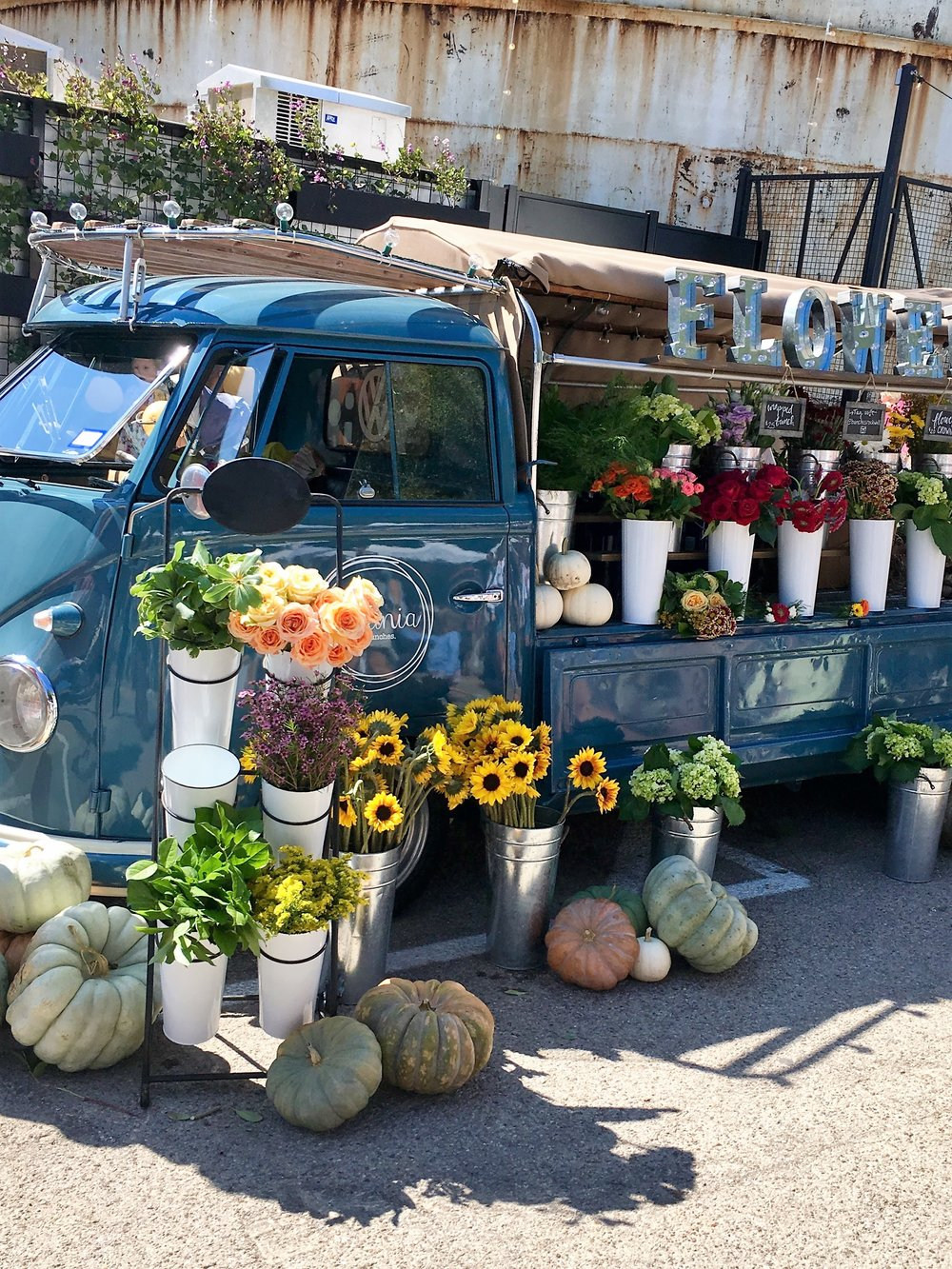 Loved this cute flower truck which was part of the vendor fair