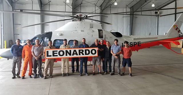 A big #thanks to #leonadohelicopters we #enjoyed #hosting #you for your #highaltitude #testing #hope to #seeyouagain #italy