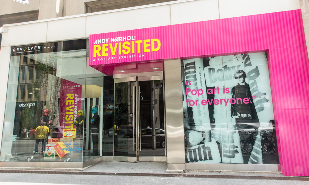 Andy Warhol: Revisited exterior. 77 Bloor St. West Toronto. Image by Anthony Cohen