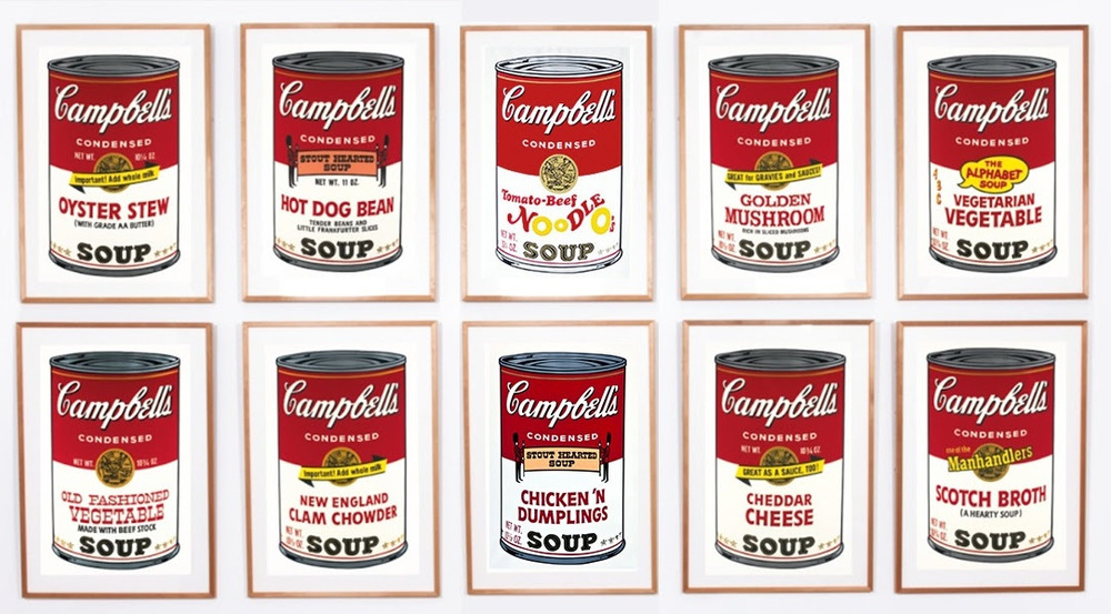 Andy Warhol, Campbell's Soup II. Image credit: © 2015 The Andy Warhol Foundation for the Visual Arts, Inc. Artists Rights Society (ARS), New York. Photographer: Leila Tisdale.