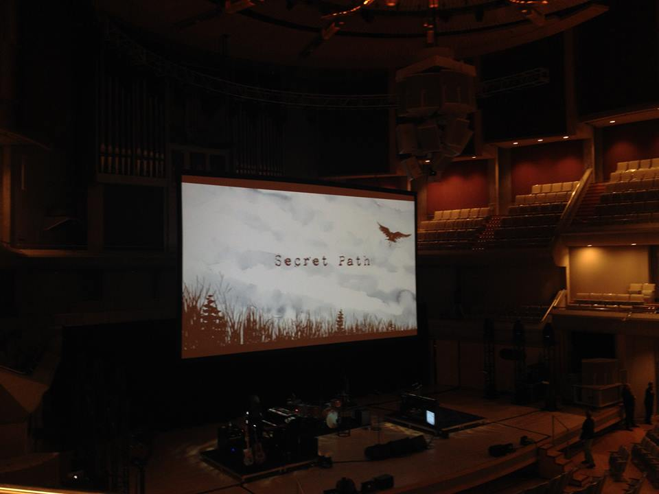 Roy Thomson Hall - Secret Path set-up - photo by Will McGuirk