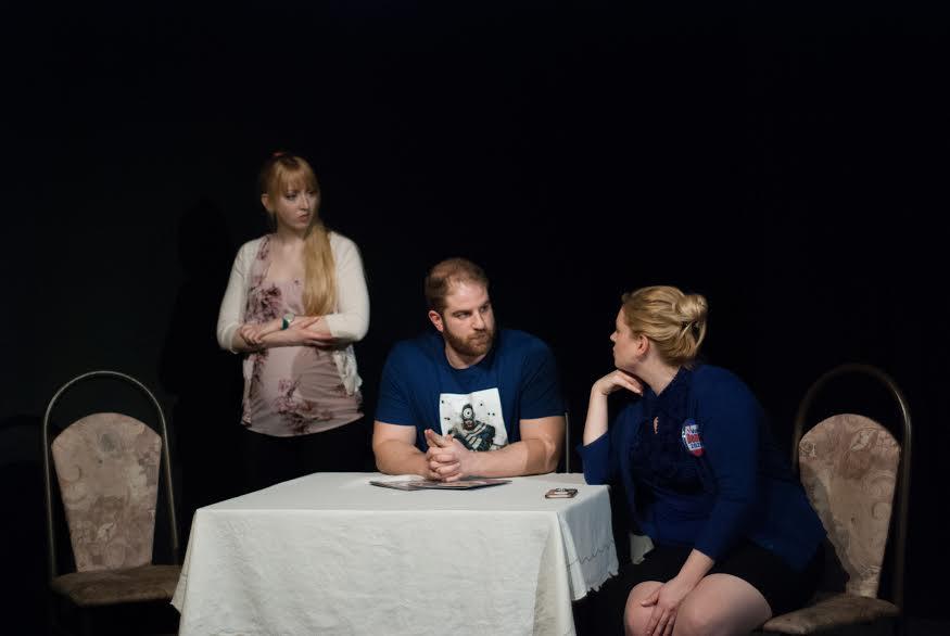 L to R: Amber Dawn Vibert, Joseph Lauria, Kristi Lauria Photo by Phil Ireland