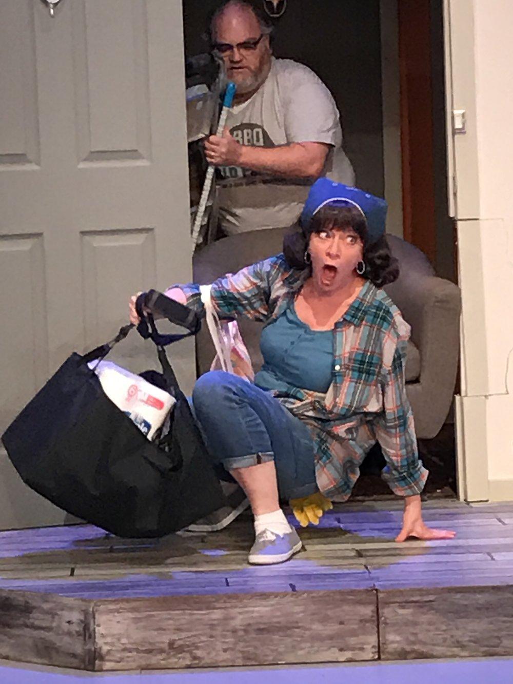 In doorway: Shael Risman, On floor: Nancy Gleed, Photo courtesy of Ted Niles.