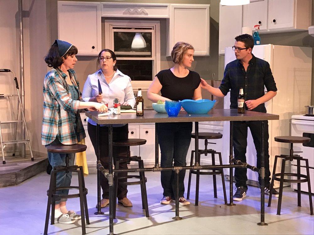 Left to Right: Nancy Gleed, Sharon Berman, Genevieve Hebert-Carr, Darren Brunke. Photo courtesy of Ted Niles.