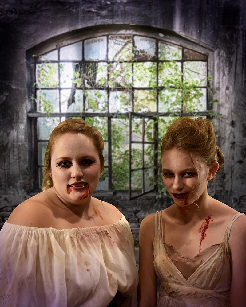 Kat Shaw and Lily Gordon as the Vixens - photo by Wayne Bonner