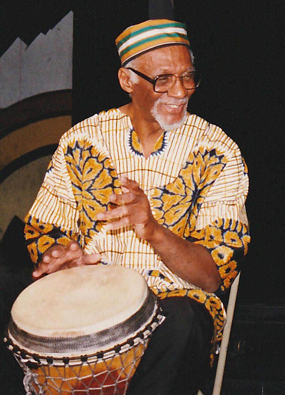 George Blake drumming 1995.jpg