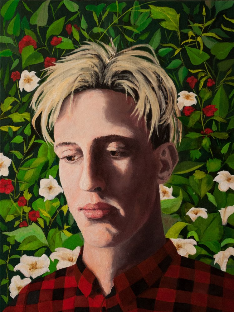 "FlowerBoy (2018),  24 x 18"", Oil on Canvas"