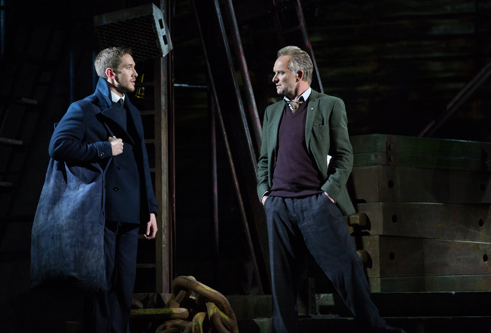 Oliver Savile and Sting in The Last Ship. Photo by Cylla von Tiedemann.
