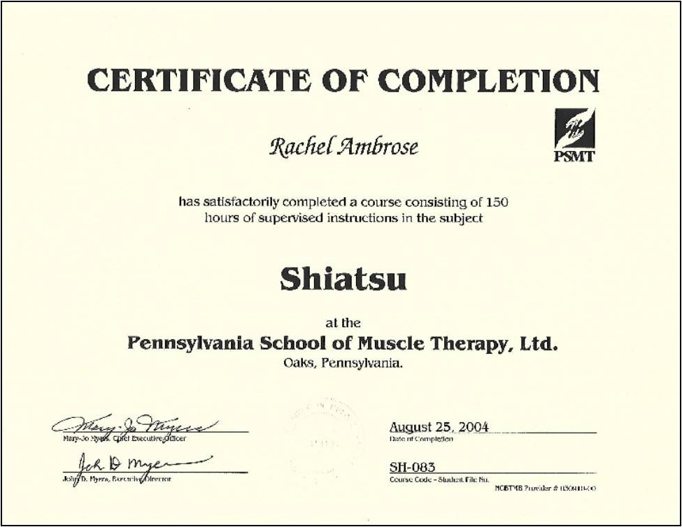 Natures Healing Art Llc Certifications