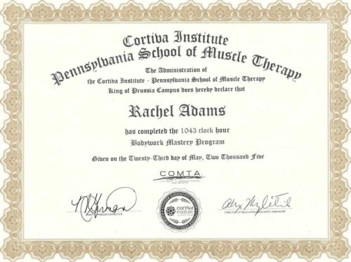 Nature\'s Healing Art, LLC-Certifications