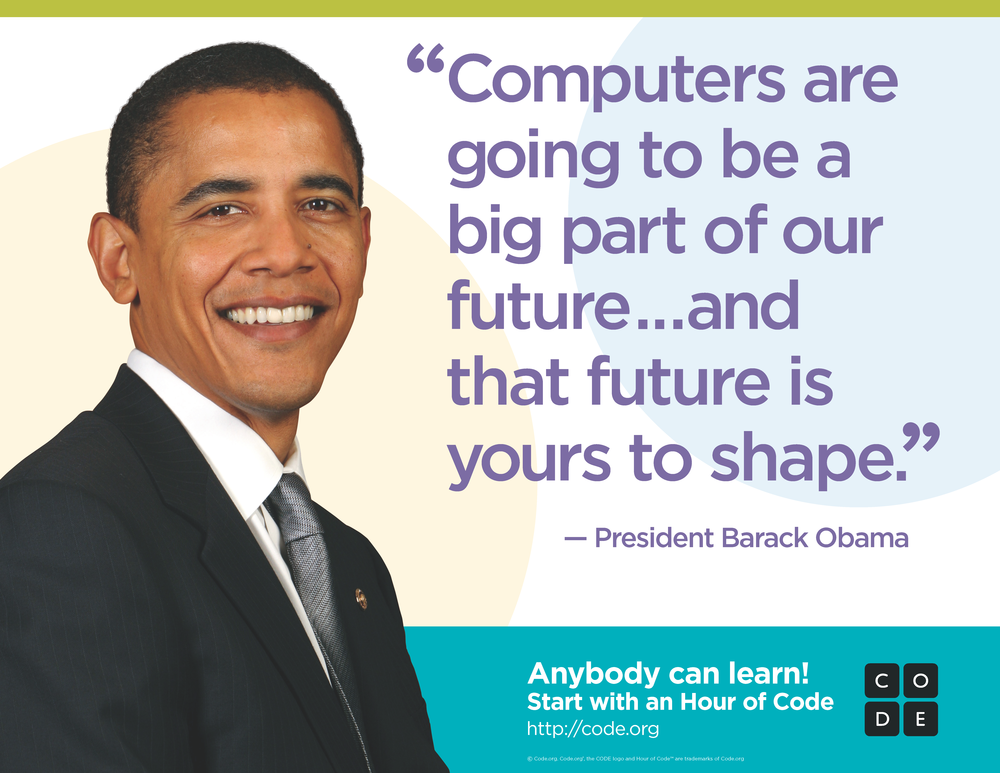 President Obama urges kids to learn programming through Code.org © 2016