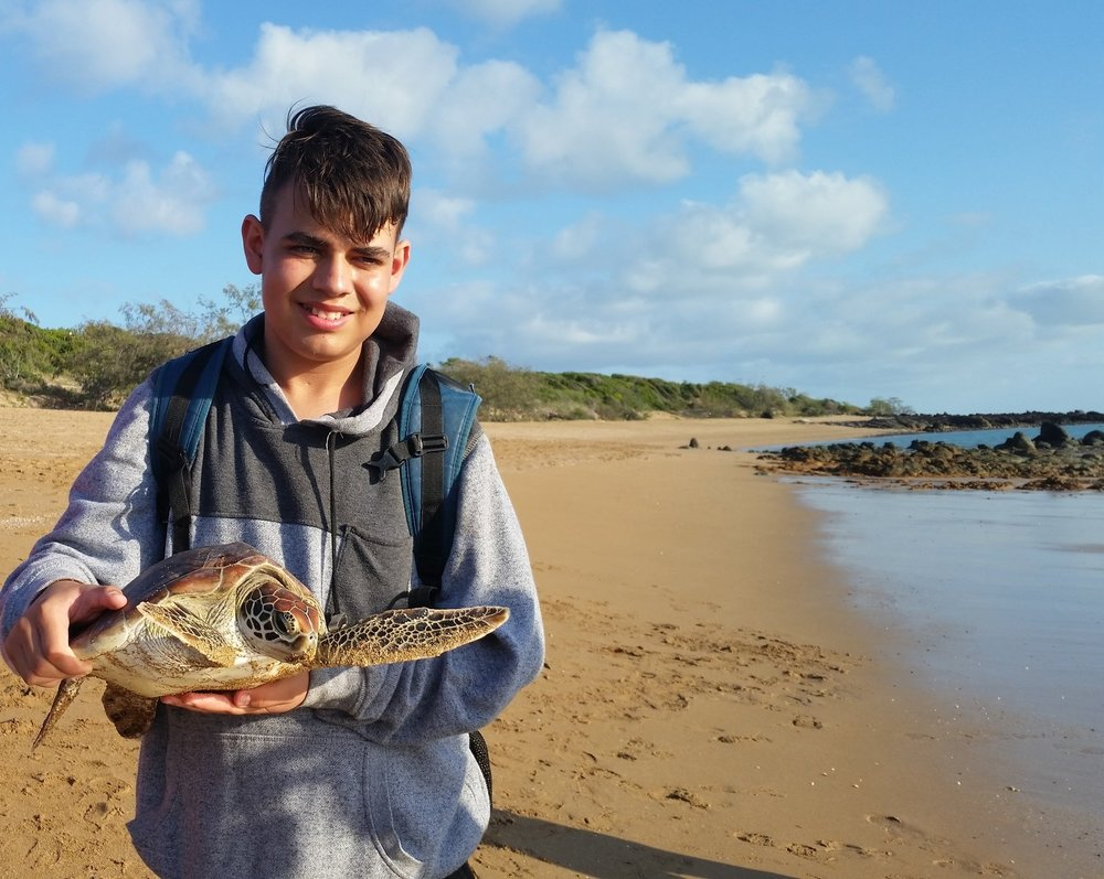 """Seeing what the marine biologists did when studying the turtles gave me an understanding of what the future as a marine biologist would hold."""