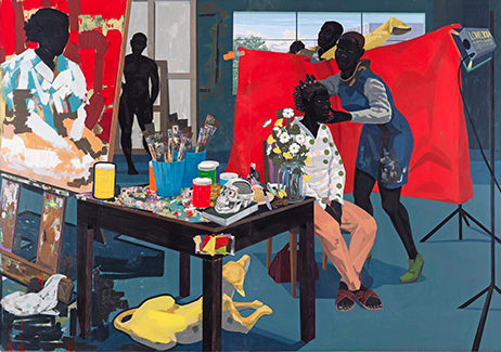 Kerry James Marshall     Untitled  (Studio),   2014.     MASTRY      October 25, 2016–January 29, 2017     Exhibition Location: The Met Breuer, 3rd and 4th floors