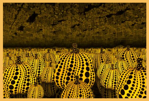 All the Eternal Love I Have for the Pumpkins , 2016. By Yayoi Kusama
